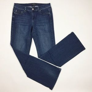 WHBM Noir Boot Leg Jeans